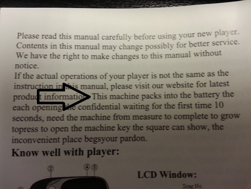 MP3 player instructions