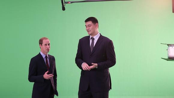 Duke of Cambridge and Yao Ming