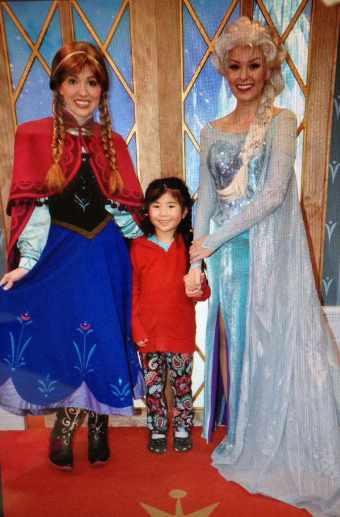 Anna, Elsa and Mia