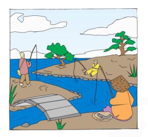 fishing-by-the-stream-custom