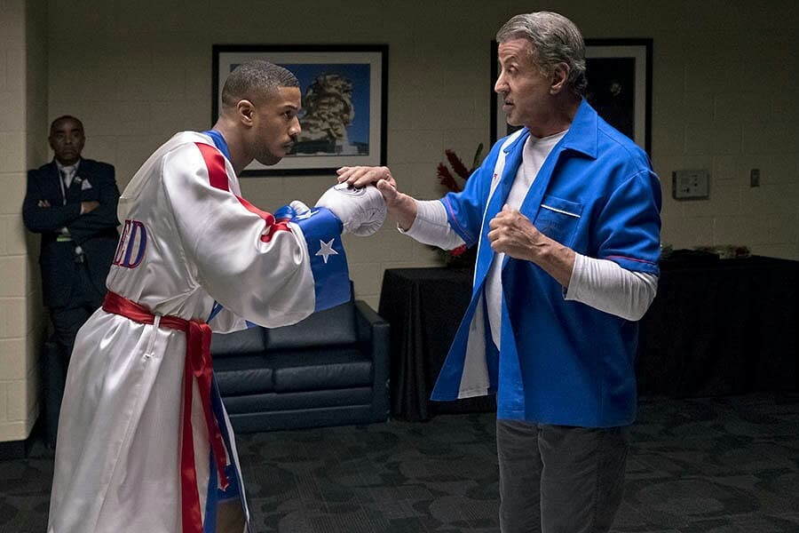 Rocky and Adonis in Creed II